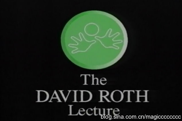 David Roth - Lecture 1985 at the 4th British Close Up Magic
