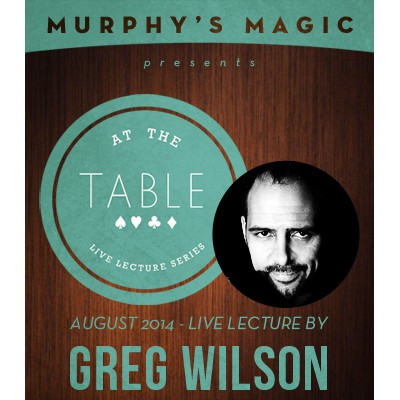 At The Table Live Lecture Gregory Wilson