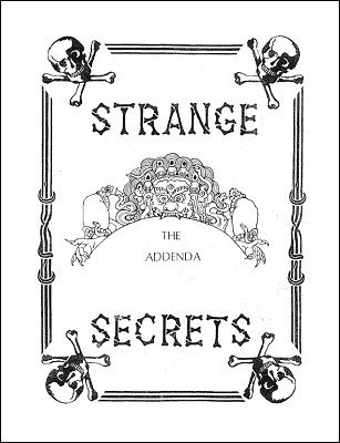 Gordon Miller - Strange Secrets Addenda